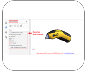 3d pdf fusion 360 Features attachment