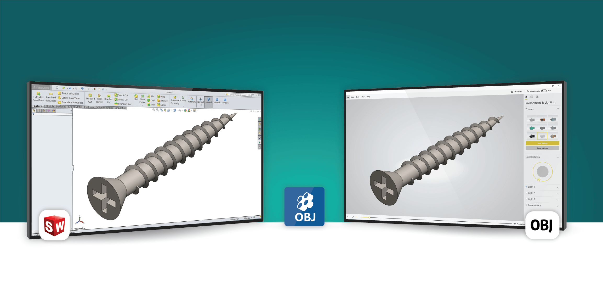 OBJ Exporter For SolidWorks
