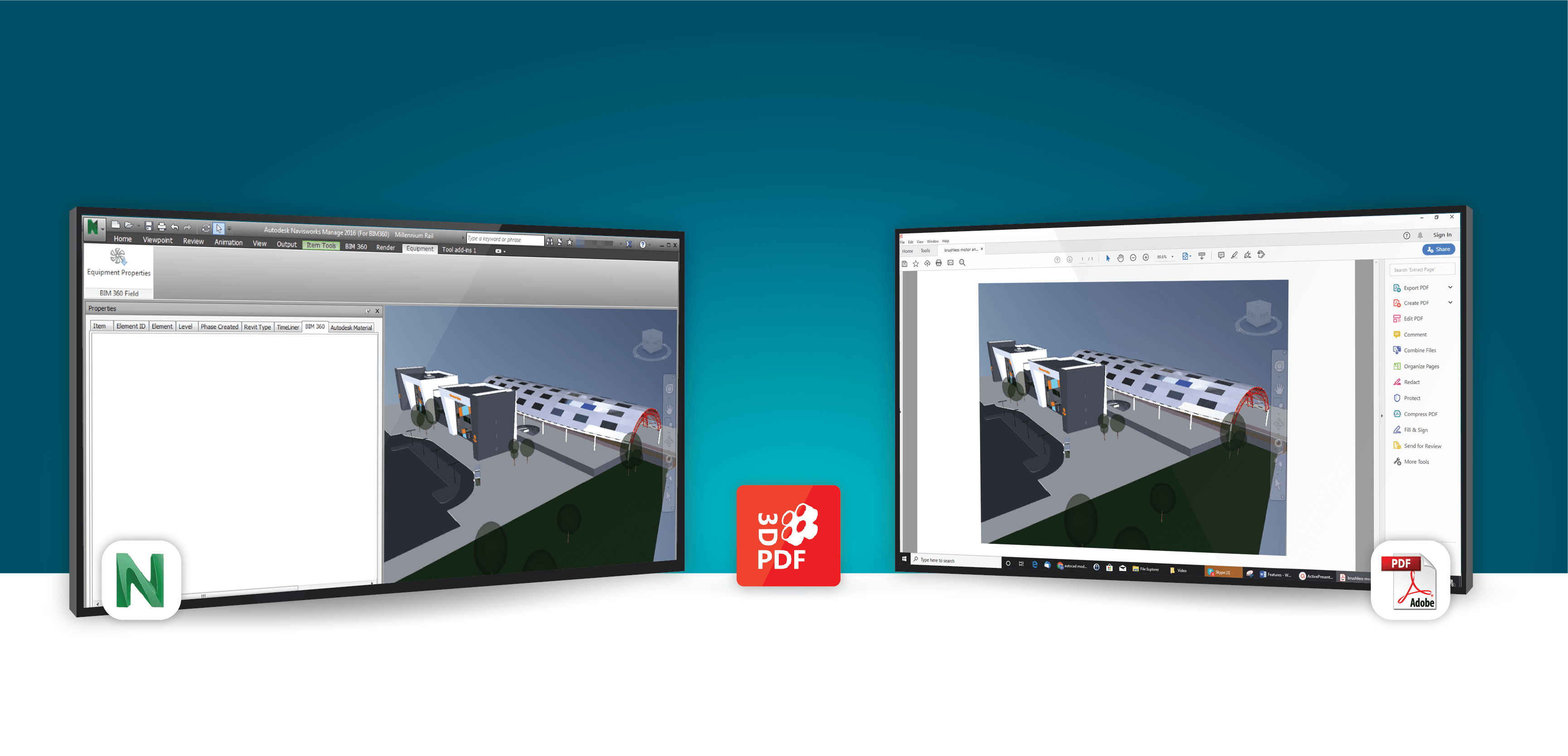 3D PDF Exporter For NavisWorks