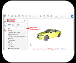 3d pdf 3dsmax Features export attachments