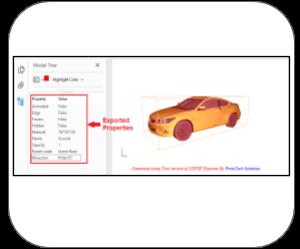 3d pdf 3dsmax Features export properties