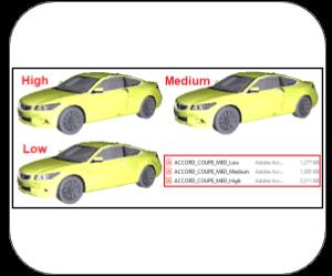 3d pdf 3dsmax Features mesh quality