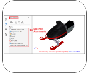 3d pdf NavisWorks attachments