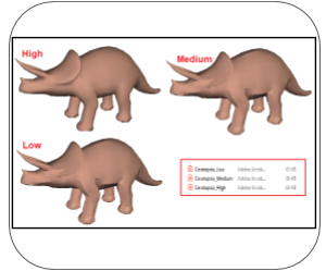 3d pdf maya mesh quality
