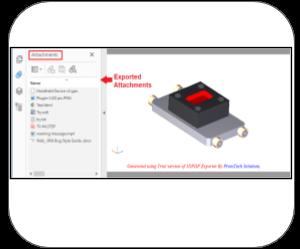 3d pdf solidworks Features attachments