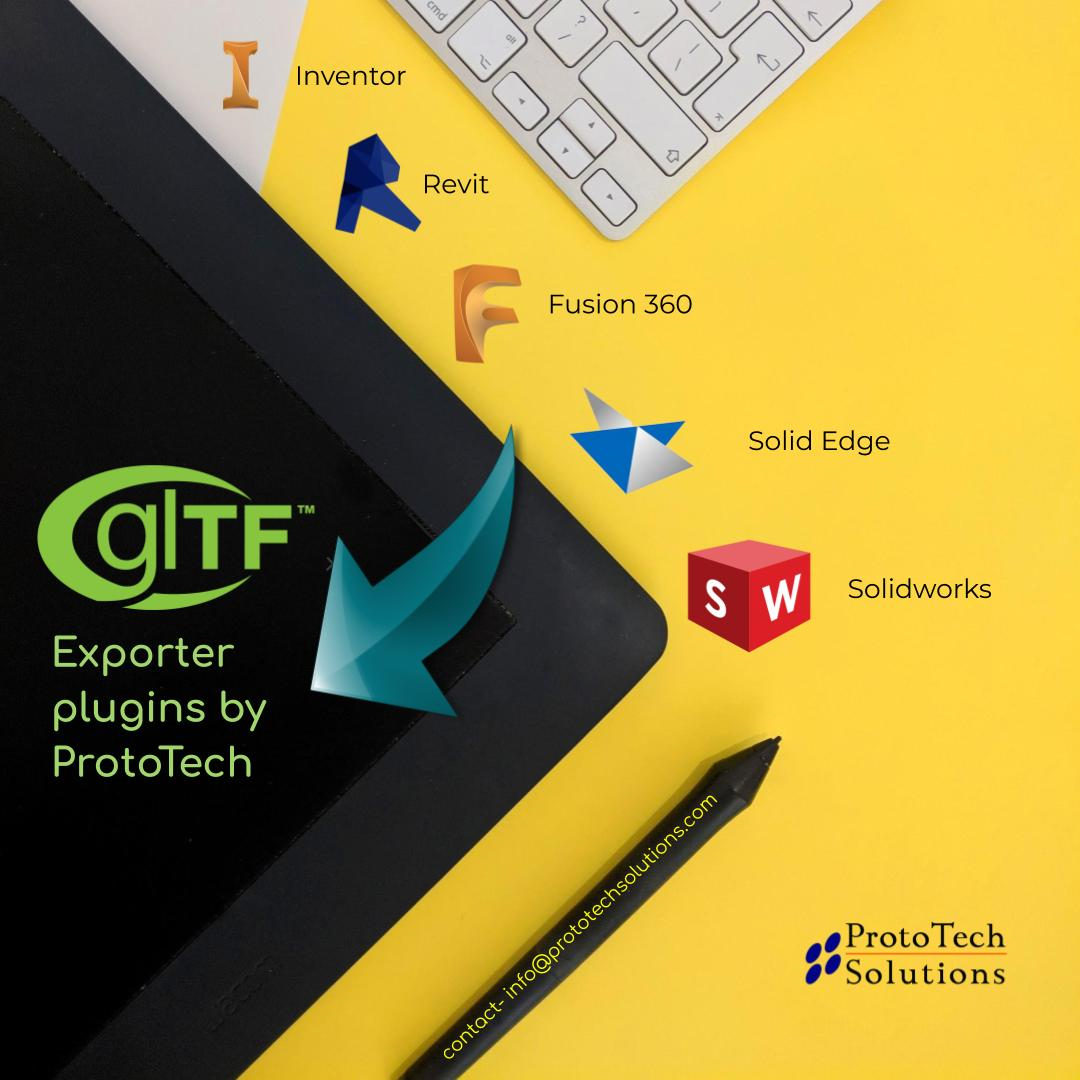 Introducing glTF 2.0 file Export support for various platforms