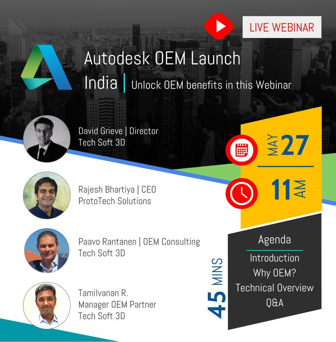 Autodesk OEM launch India May 27, 2020