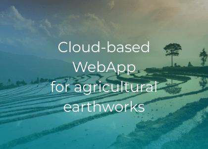 Cloud-based WebApp for agricultural earthworks